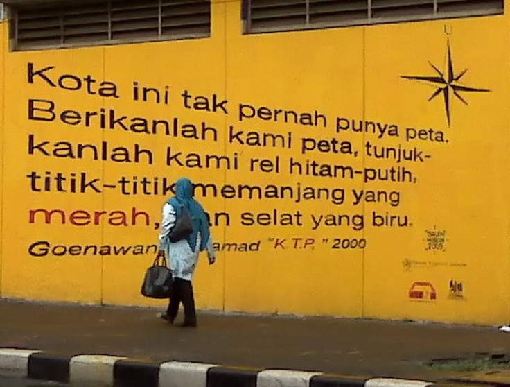 Quote from Goenawan Mohamad. Indonesia.