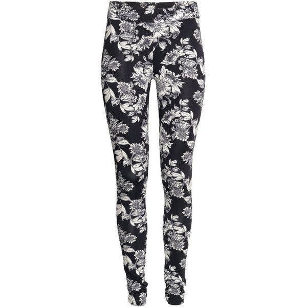 H&M Jersey leggings (215 UYU) ❤ liked on Polyvore featuring pants, leggings, bottoms, jeans, h&m leggings, jersey pants, jersey leggings, legging pants and elastic waistband pants