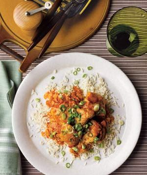 Slow-cooker curried chicken with ginger and yogurt--our go-to curry recipe.