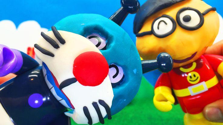 Doraemon 3D Animation❤バイキンマンがドラえもんに?!アンパンマンおもちゃアニメ