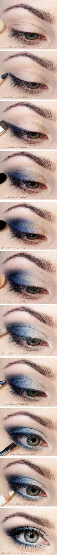 How to: dramatic blue eye makeup