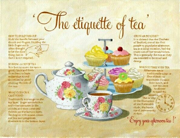 The ettiquette of tea