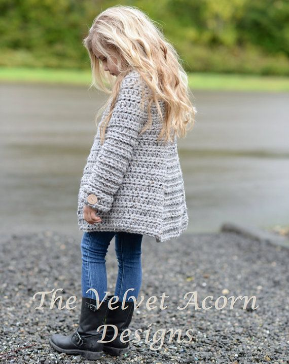 CROCHET PATTERN-The Verge Sweater 2 3/4 5/7 8/10 by Thevelvetacorn