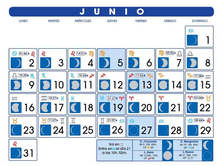 Calendario Lunar: Junio de 2014