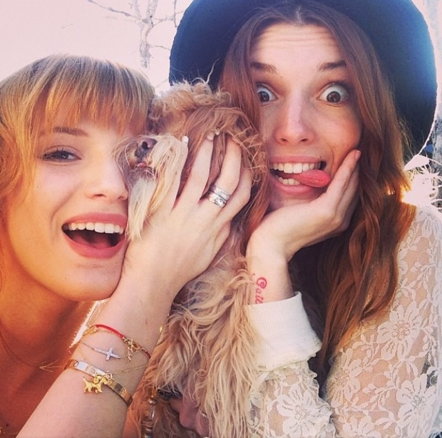 Bella Thorne, and her sister Dani Thorne