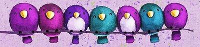 Cuddling bird illustration