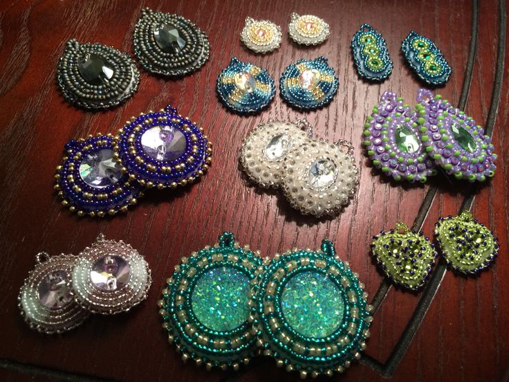Beaded earrings galore!