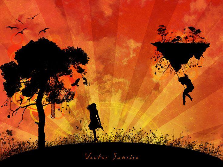 Vector Sunrise by RavenxCorpse on DeviantArt