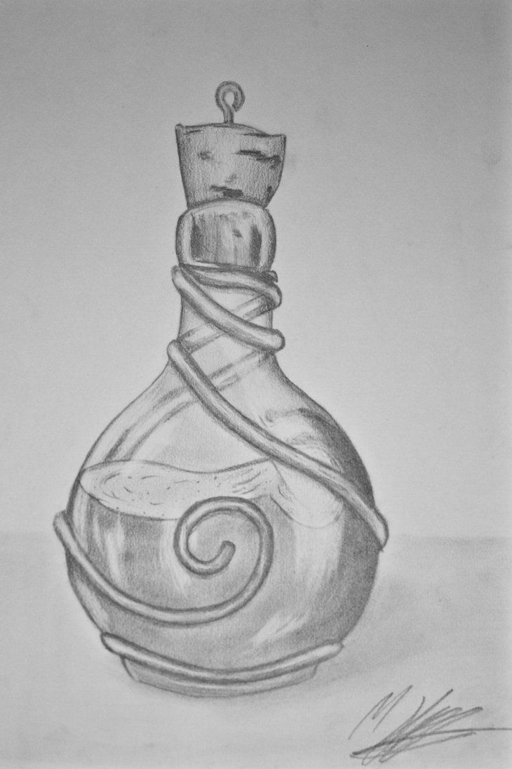 This contain a unknown deadly potion probably Angel's Trumpet Draught (from hp) the effects are unknown. Or this could be a bloodroot potion. Potion Bottle by mhummelt
