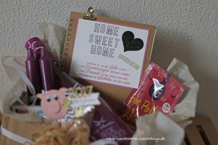 Geschenk DIY Kiste zum Einzug Umzug Home Sweet Home Mitbringsel Stampin Up