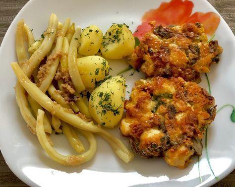 Kotlety z kurczaka, pieczarek i sera - Blog z apetytem