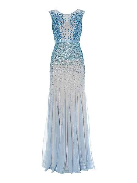 Adrianna Papell 'Sleeping Beauty' dress, has a bit of a Jenny Packham feel to it