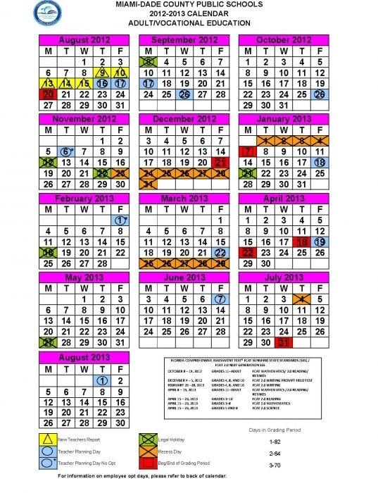 Miami Dade School Calendar 2015 2016 Printable Calendar 2018 News