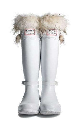 white boots Hunter