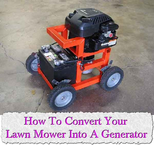 Welcome to living Green & Frugally. We aim to provide all your natural and frugal needs with lots of great tips and advice, How To Convert Your Lawn Mower Into A Generator