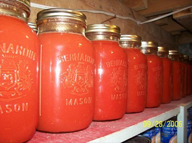 Tomato Juice - Canning Recipe