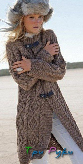 Knitted jacket.