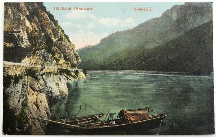 Cazanele Dunării în jurul anului 1910