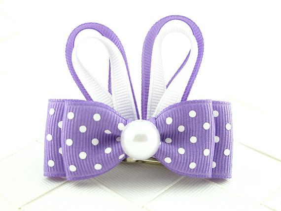 Dark Orchid Purple Easter Bunny Hair Bow Sculptures / Bunny Ears / Easter Hair Bows / Sculpted Ribbon Hair Bows / Hair Bows for Girls on Etsy, $3.50