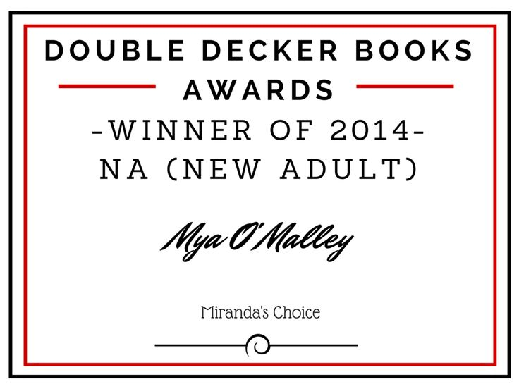 Winner of 2014 NA (New Adult) is...