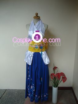 Summoner Yuna Cosplay Costume from Final Fantasy X front by Cosplay1