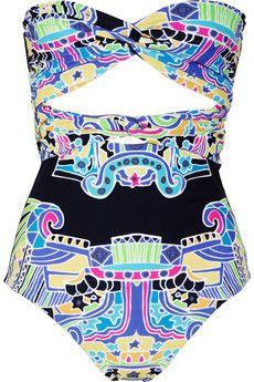 Mara Hoffman: Prints Bandeau, Prints Swimsuits, Bandeau Swimsuits, Mara Hoffman, Swimsuits Summ, Bath Suits, Hot Bikinis, Carnivals Prints, Summertime Swimsuits