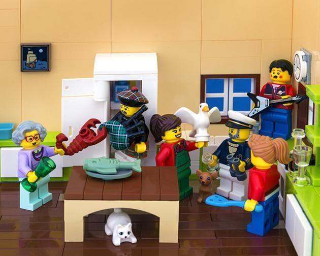 LEGO Canada provinces - Nova Scotia - That's some good kitchen party, yuhp!
