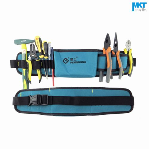 1Pcs Blue 52x13cm Oxford Cloth Durable Waterproof Tools Container Storage Waist Bag WithBelt,Electrical Tools Bag