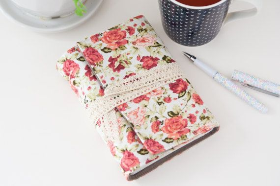 Roses Writing Journal. Blank Journal with Lace. by Mettaville