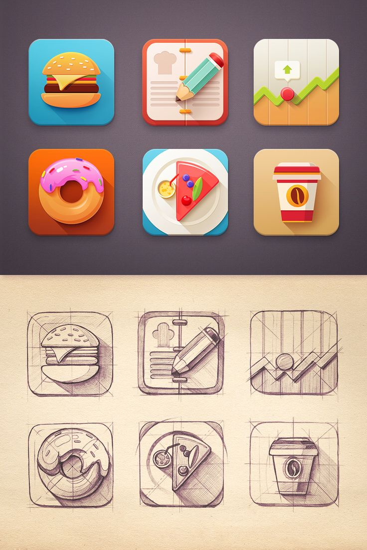 Dribbble - Flat_icon_set_-_xxl.jpg by Mike | Creative Mints icon design