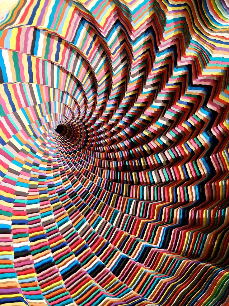 sculture di carta di jen stark paper art