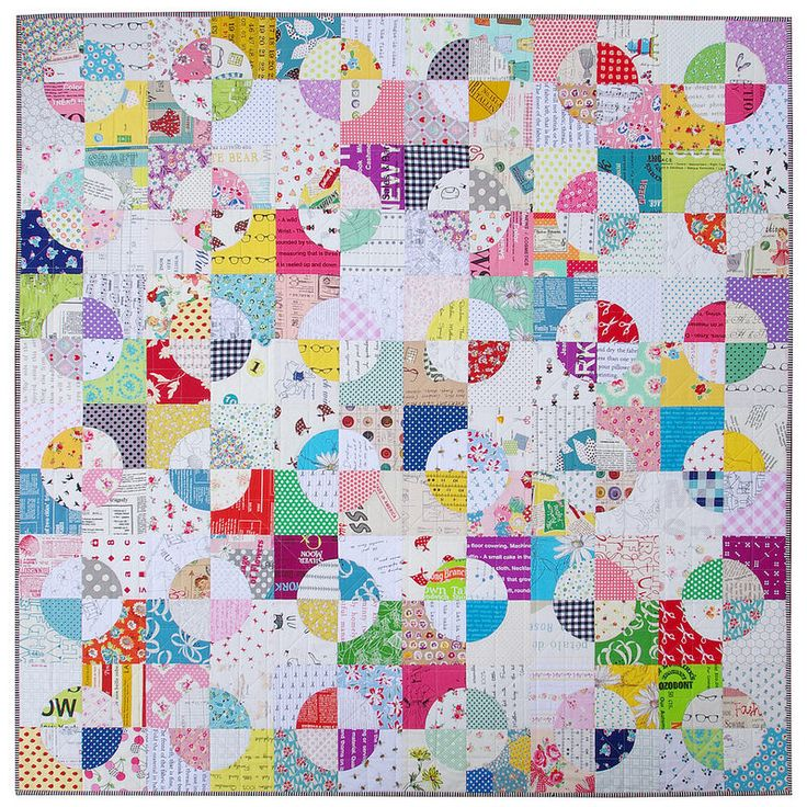 Drunkards Path Quilt - A Finished Quilt - Red Pepper Quilts