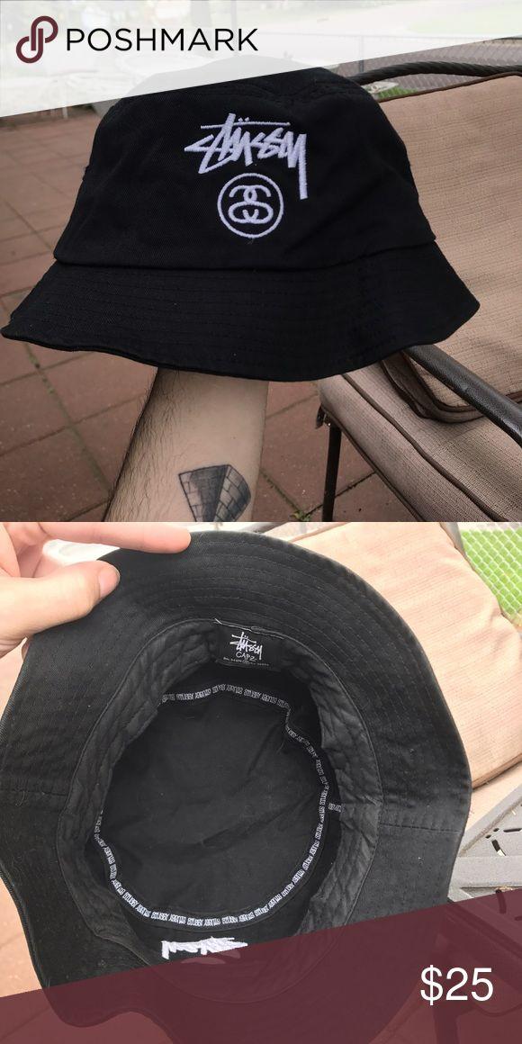Stussy Brand New Black Stussy Bucket Hat Stussy Accessories Hats