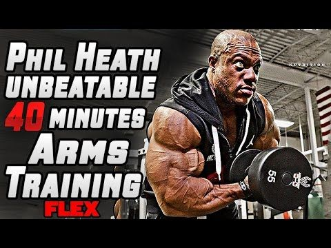 Phil Heath's 40 Minutes UNBEATABLE Arms Training For MASS - YouTube