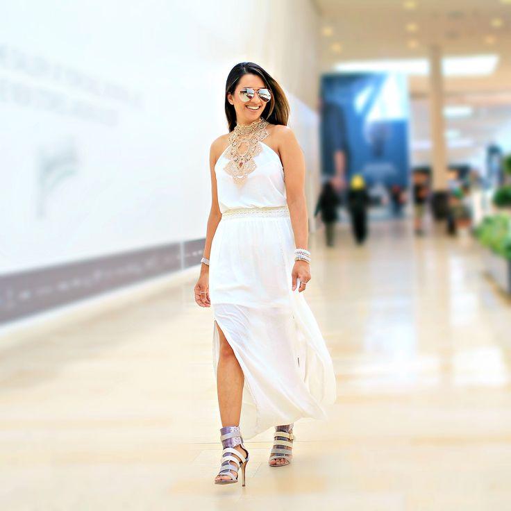 White on white outfit