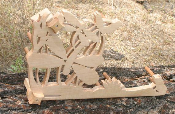 Card / Inkle weaving loom  figured maple by Toplyfiberarts on Etsy