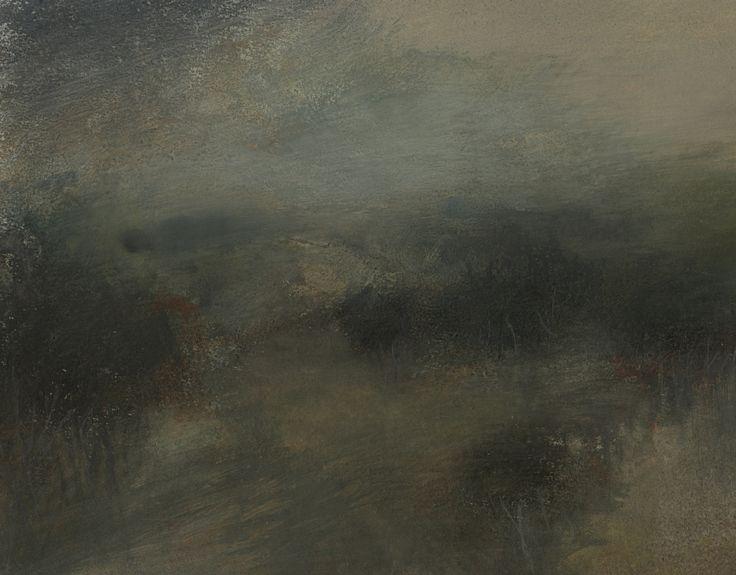 Nicholas Herbert, British Artist - Landscape L961, Sharpenhoe Series, Below the Escarpment, The Chiltern Hills, contemporary mixed media painting