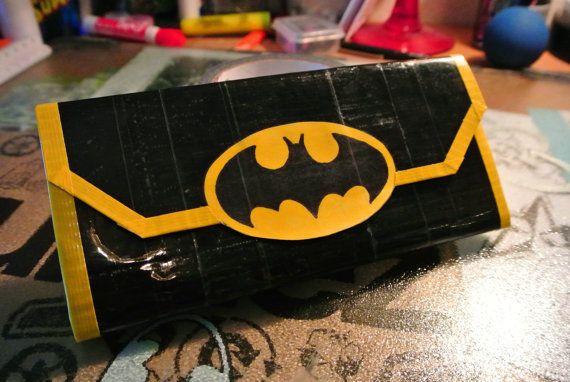 Batman Woman's Clutch Duct Tape Wallet by TaylorTape on Etsy, $20.00
