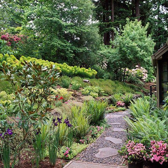 18 Best Images About Cottage Garden Slope On Pinterest | Gardens Landscape Steps And A Hill