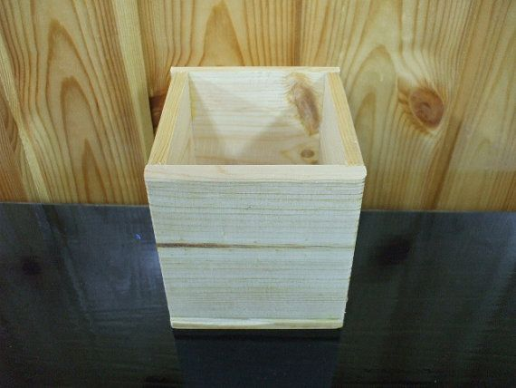 Unfinished Square Wooden Box  for crafting crafts by HIPROGRESS, $5.00