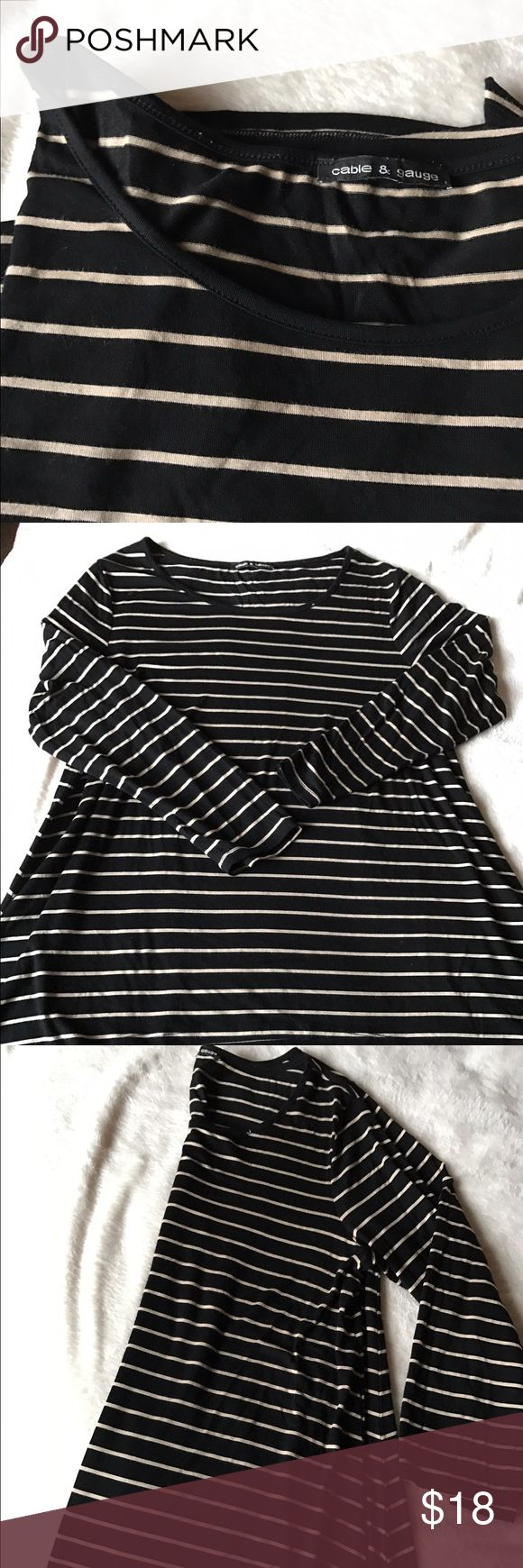 Striped slouchy top! Super soft slouchy striped top! So cute with leggings and boots! Great condition! Cable & Gauge Tops Tees - Long Sleeve