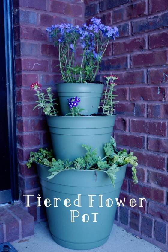 64 Best Diy Tiered Planter Images On Pinterest Tiered