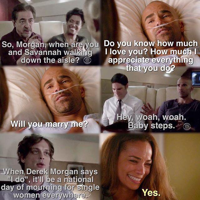 Criminal Minds Season 11 Morgan  gets engaged