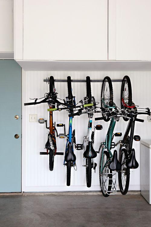 IHeart Organizing: Garage Update: Family Bike Storage Yes.