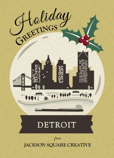 24 best spreading holiday cheer images on pinterest christmas this corporate holiday card illustration features a vintage city scape set in a snow globe to reheart Gallery