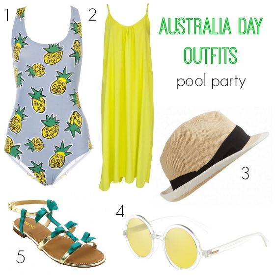 Australia Day outfits: pool party