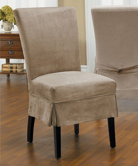 Caber SureFit Driftwood New Luxury Suede Parson Mid-Pleat Chair Cover | zulily