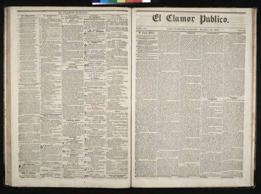 El Clamor Publico, vol. III, no. 38, Marzo 20 de 1858 :: El Clamor Publico Collection, 1855-1859