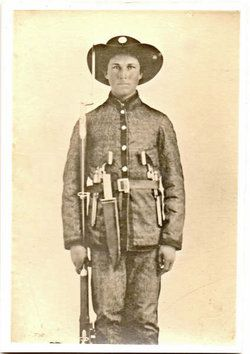 Pvt Francis Logan Woodward 4TH TX INF CSA BURIED IN RICHMOND VA DIED FROM A SPIDER BITE IN NOVEMBER 1861 IN RICHMOND VA