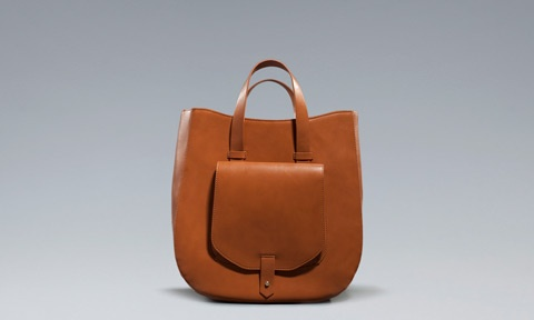 in stores now: zara tote bag with pocket
